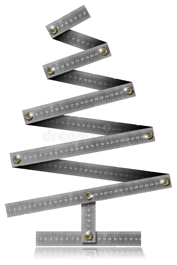 Metal Folding Rule Christmas Tree Royalty Free Stock Images ...