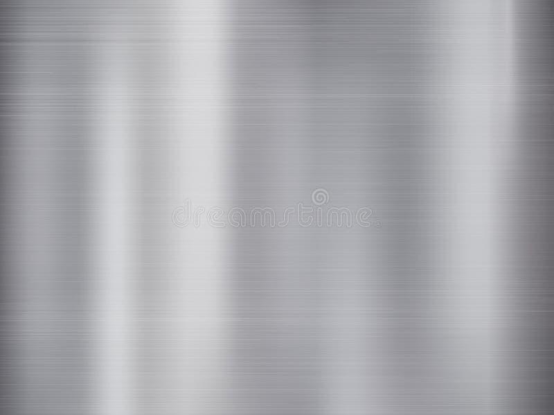 Metal, fondo de la textura del acero inoxidable con la reflexión stock de ilustración
