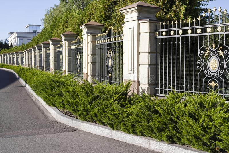 Metal forged fence royalty free stock photos