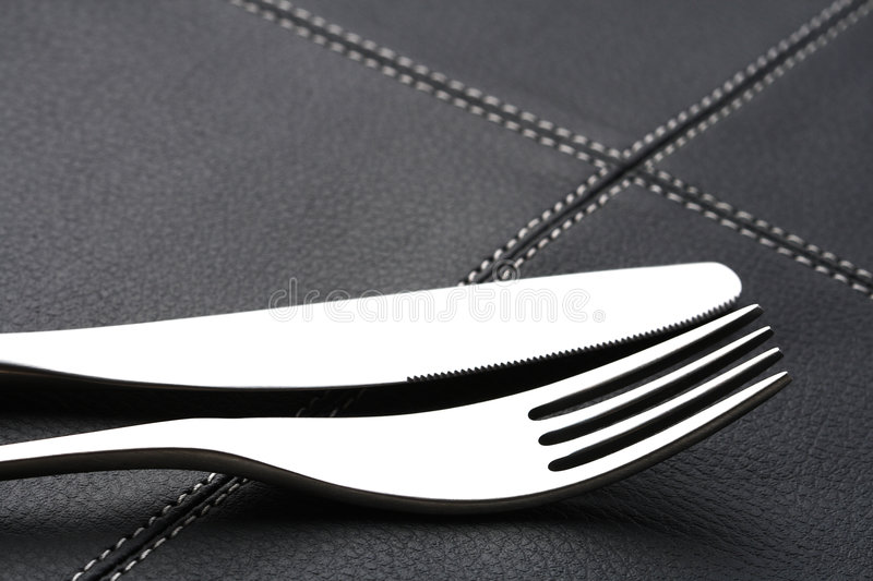 Download Metal Fork And Knife With Abstract Light Royalty Free Stock Photo - Image: 4698845