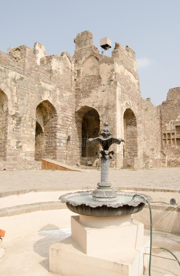 Download Courtyard Fountain, Golcanda Fort Stock Photo - Image: 30160068