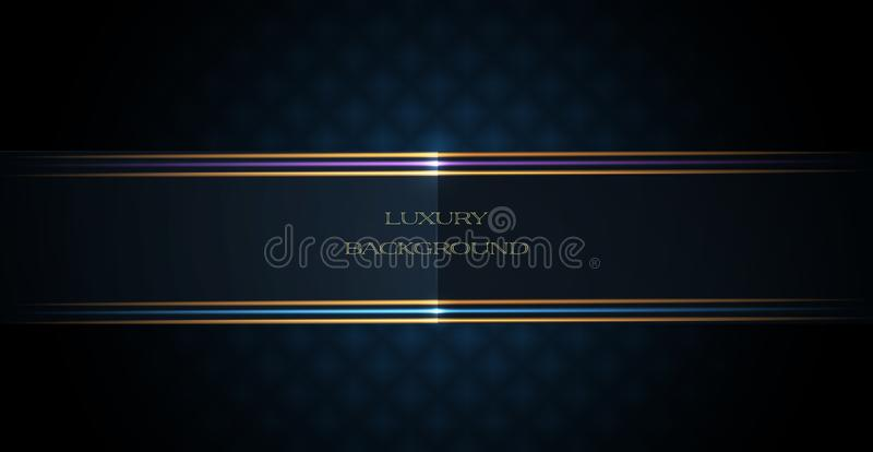Abstract luxury polygonal and silver, gold dark blue triangle line design for the cover, wallpaper. royalty free illustration