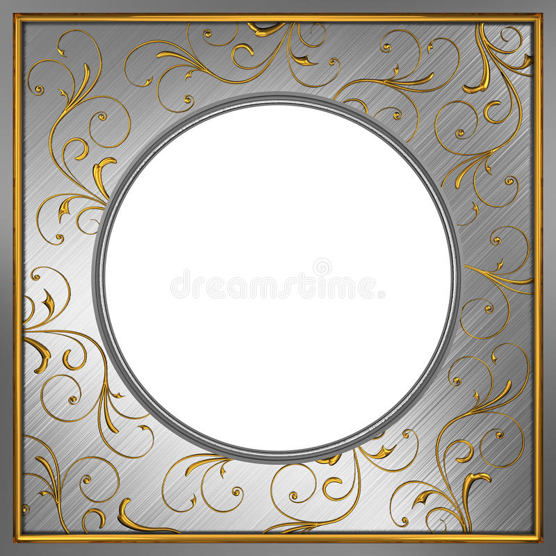 Metal frame royalty free illustration