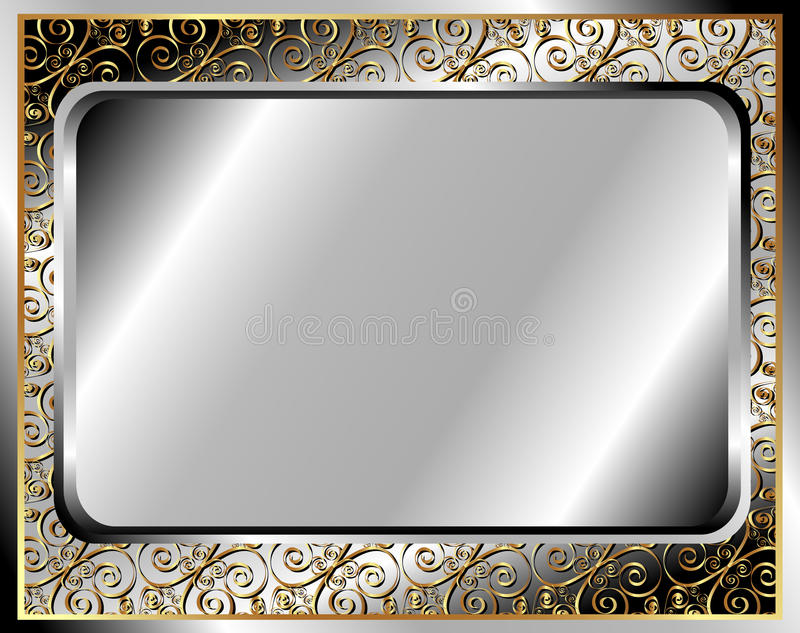 Download The metal frame stock vector. Illustration of painting - 34341378