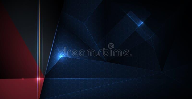 Vector metal frame design with low polygon. Illustration metallic silver, gold, dark blue-black premium background. vector illustration