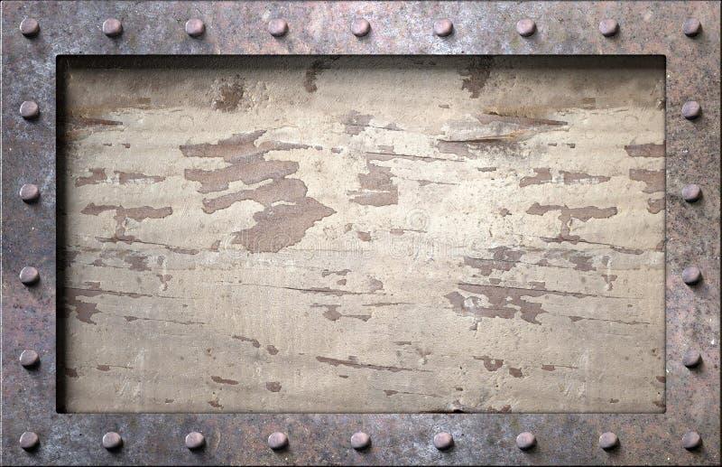 Metal frame with nails stock photos