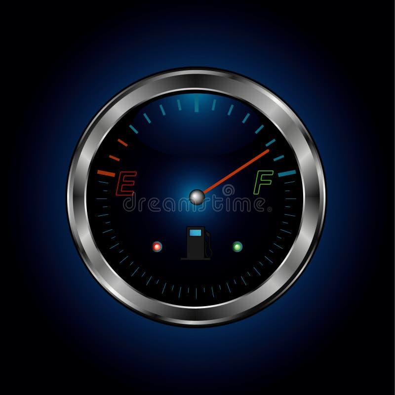 Download Metal fuel level stock vector. Image of arrow, black, white - 8899831