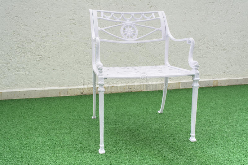 Download Metal Garden Chair stock image. Image of white, iron - 41430941