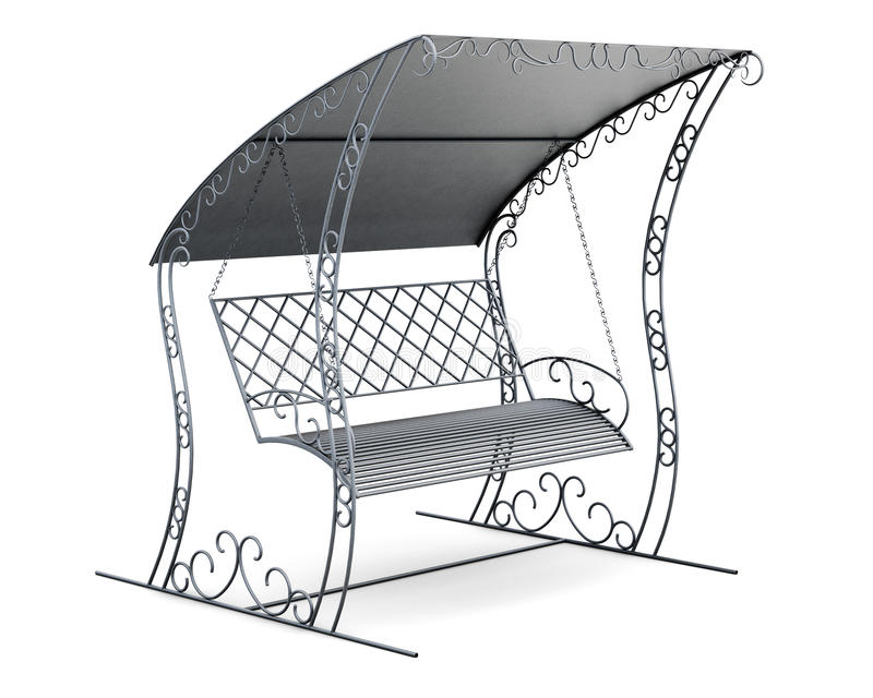 Download Metal Garden Swing With Canopy. 3d Rendering Stock Illustration - Image 76417940  sc 1 st  Dreamstime.com & Metal Garden Swing With Canopy. 3d Rendering Stock Illustration ...