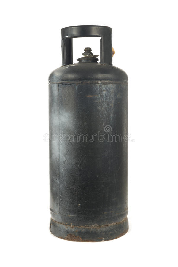Metal gas bottle royalty free stock photo