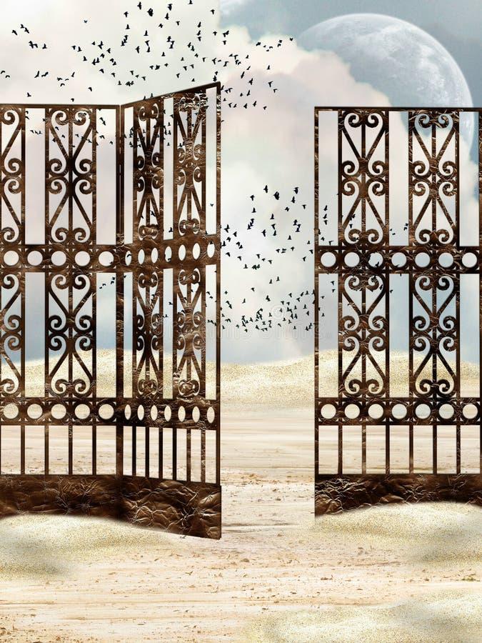 Download Metal gate stock illustration. Image of birds, entrance - 8945118