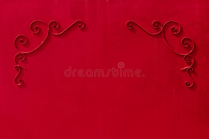 metal gates with a pattern in the form of curls covered paint. royalty free stock image