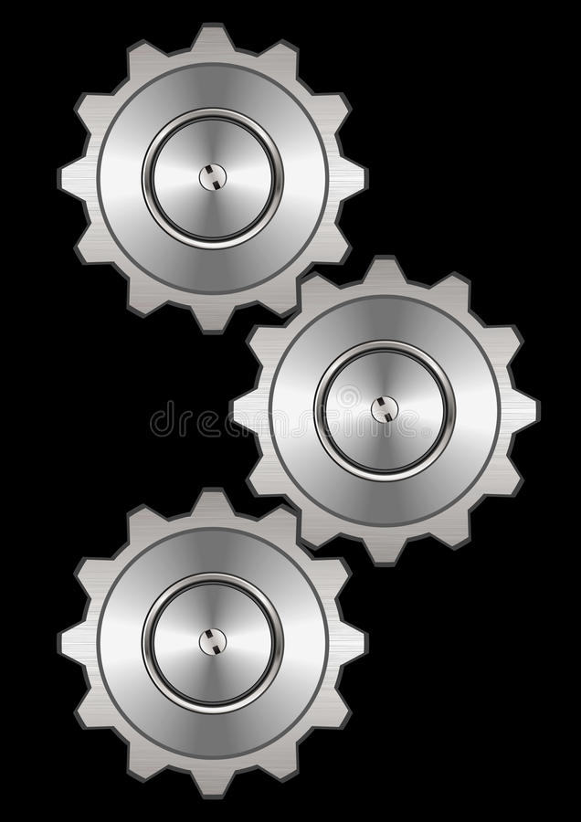 Download Metal gear system stock vector. Image of machine, metal - 19453259