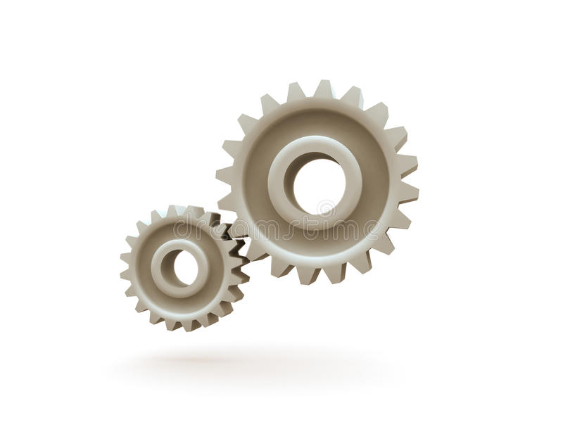 Download Metal gears stock illustration. Image of work, cogs, technology - 20805346