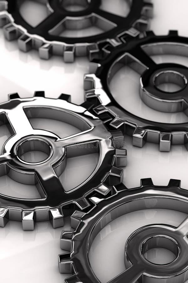 Metal gears royalty free illustration