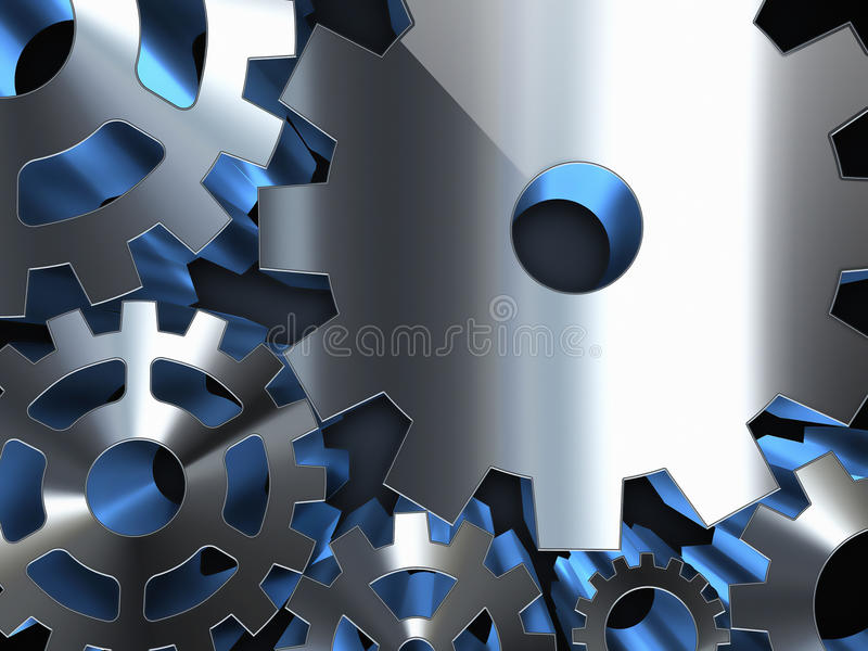 Metal gears. Abstract background with metal gears vector illustration