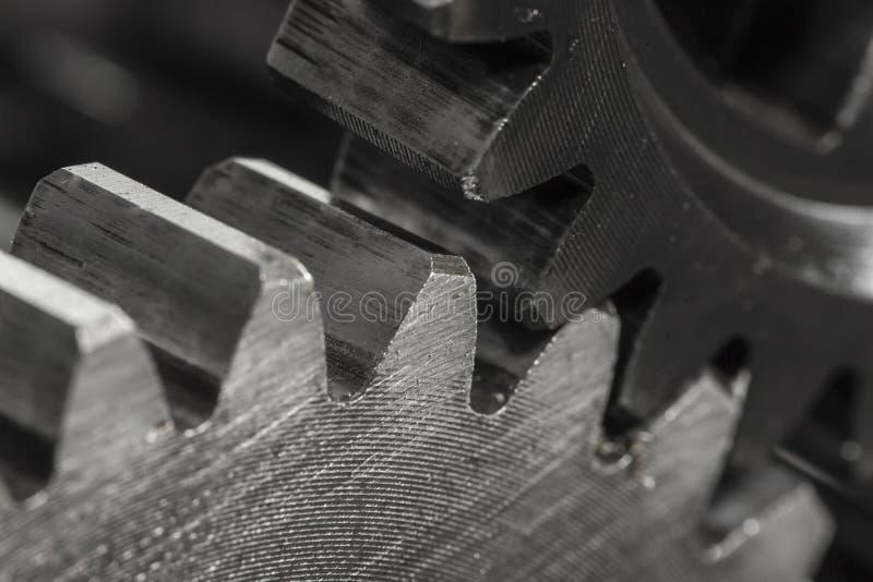 Metal Gears close up stock photo