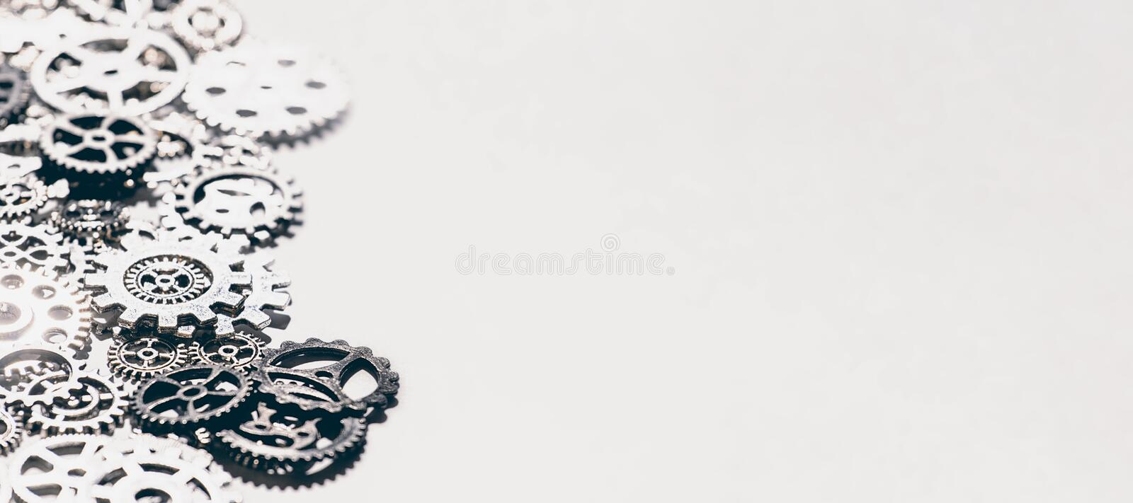 Metal gears and cogwheels Background. Gears and cogwheels stock photography