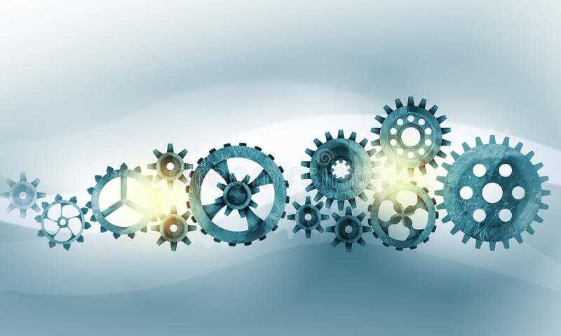 Metal gears and cogwheels vector illustration