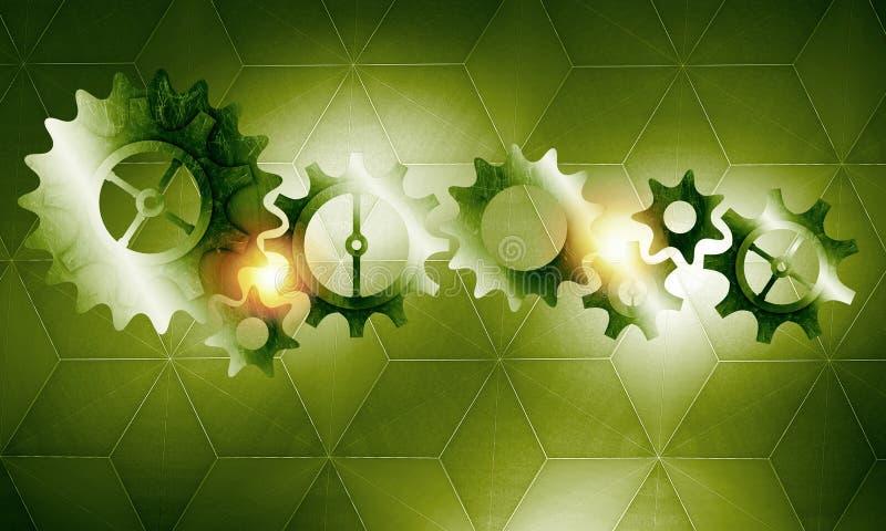 Metal gears and cogwheels royalty free illustration