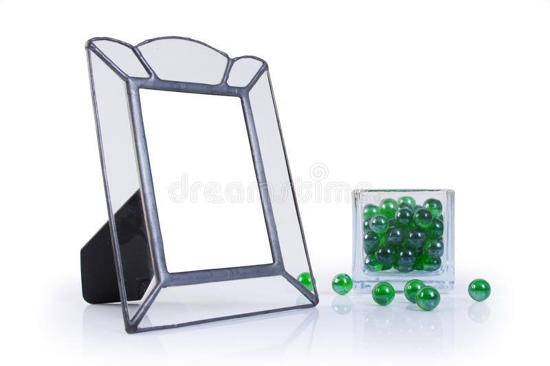 Metal and glass picture frame