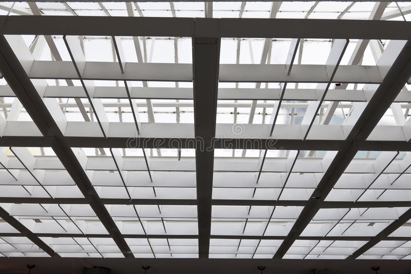 Download The metal and glass roof stock image. Image of inside - 24289321