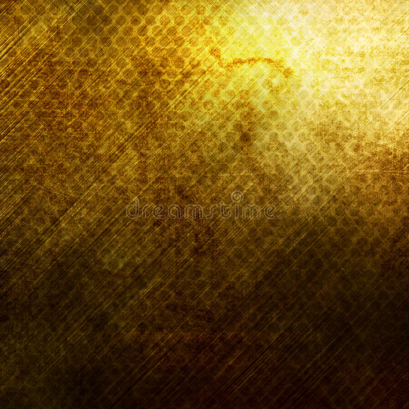 Metal gold grid. Old damaged rusty metal grid background royalty free stock photo