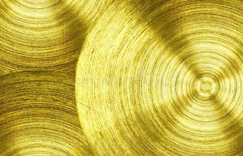 A metal Gold iron with circular texture background.  stock photos