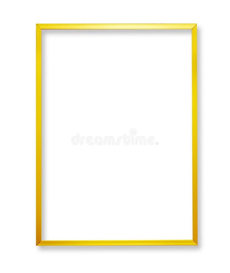Metal golden frame royalty free stock photos