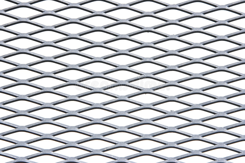 Metal grate. Isolated over white background stock photography