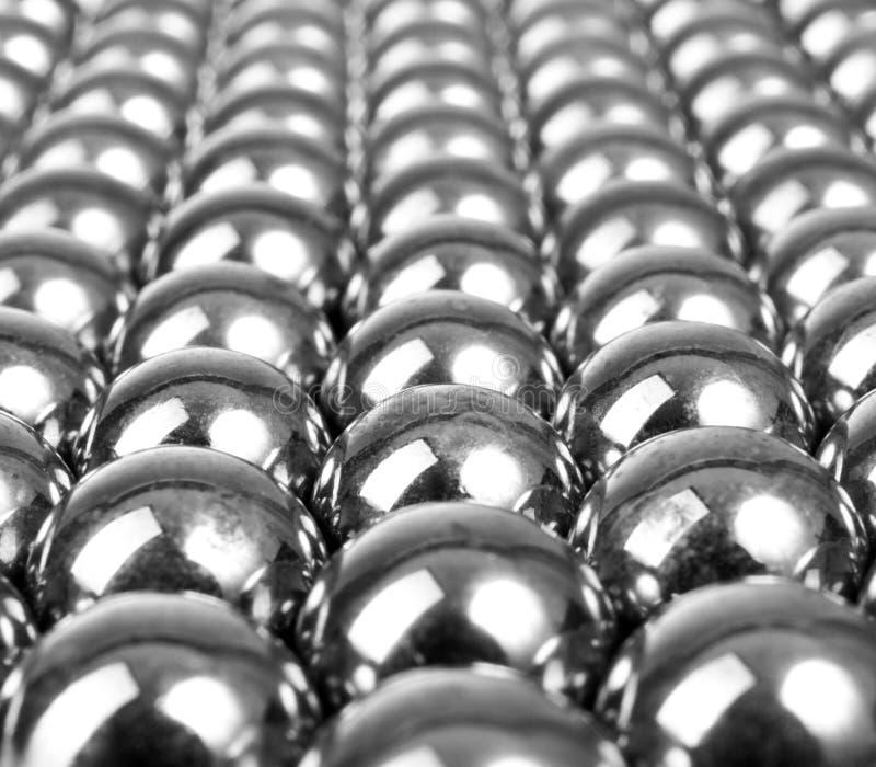Metal gray balls stock photos