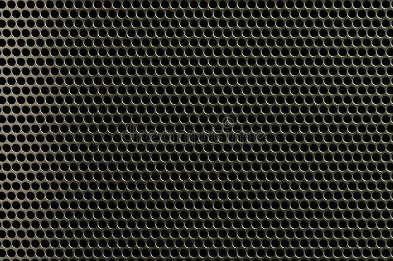Metal grid background. Metal grid texture with lighting effect stock illustration