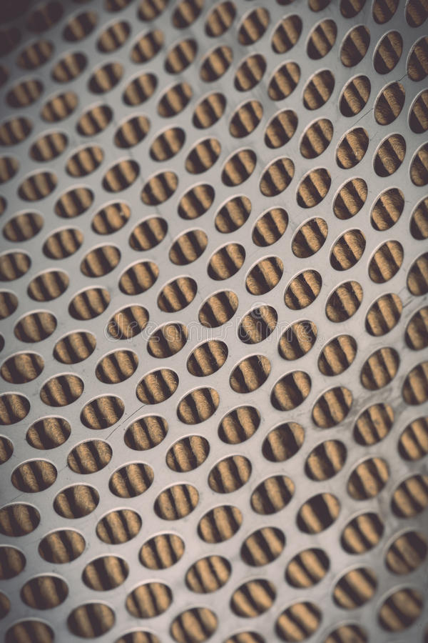 Metal grid of car air filter for background royalty free stock photography