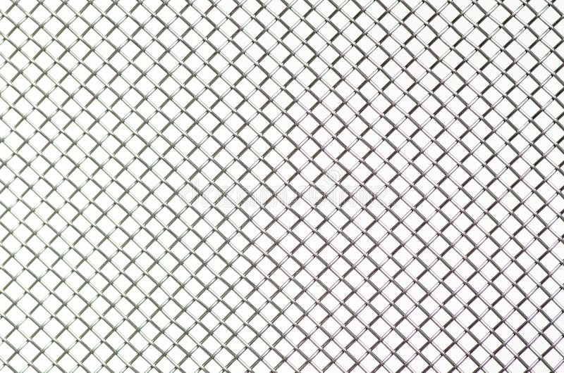 Metal grid macro industr. Y on white background royalty free stock images