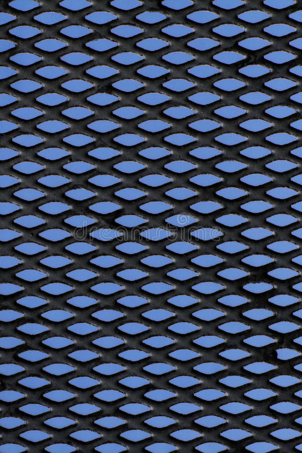 Free Metal Grid Over Blue Background Royalty Free Stock Photo - 13011335