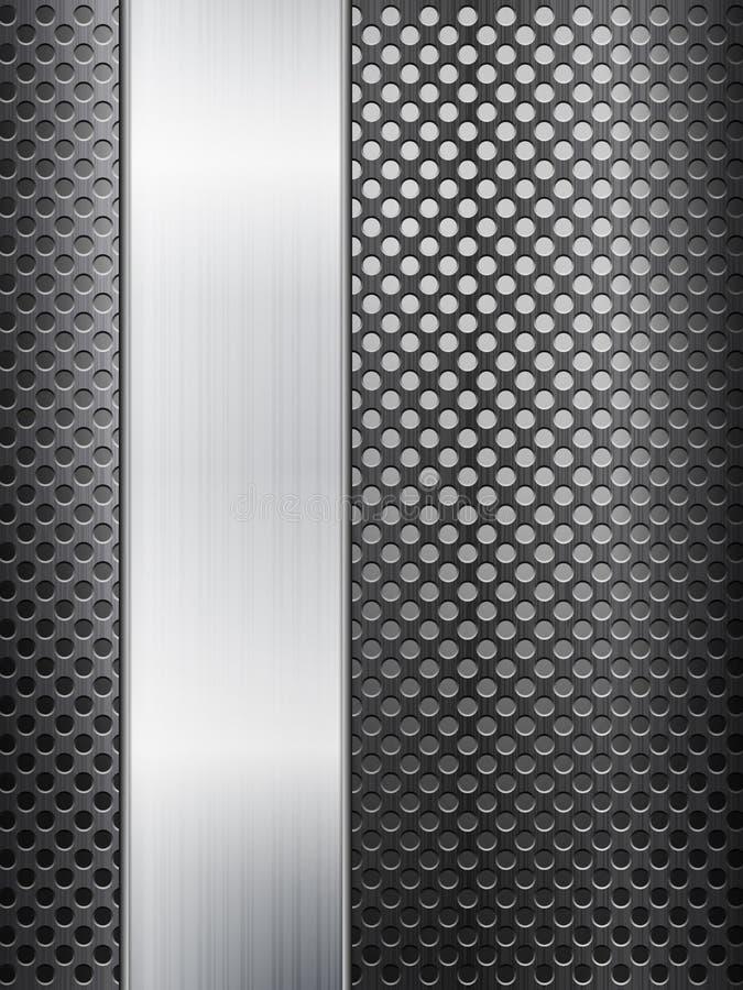 Metal grid and sheet vector illustration
