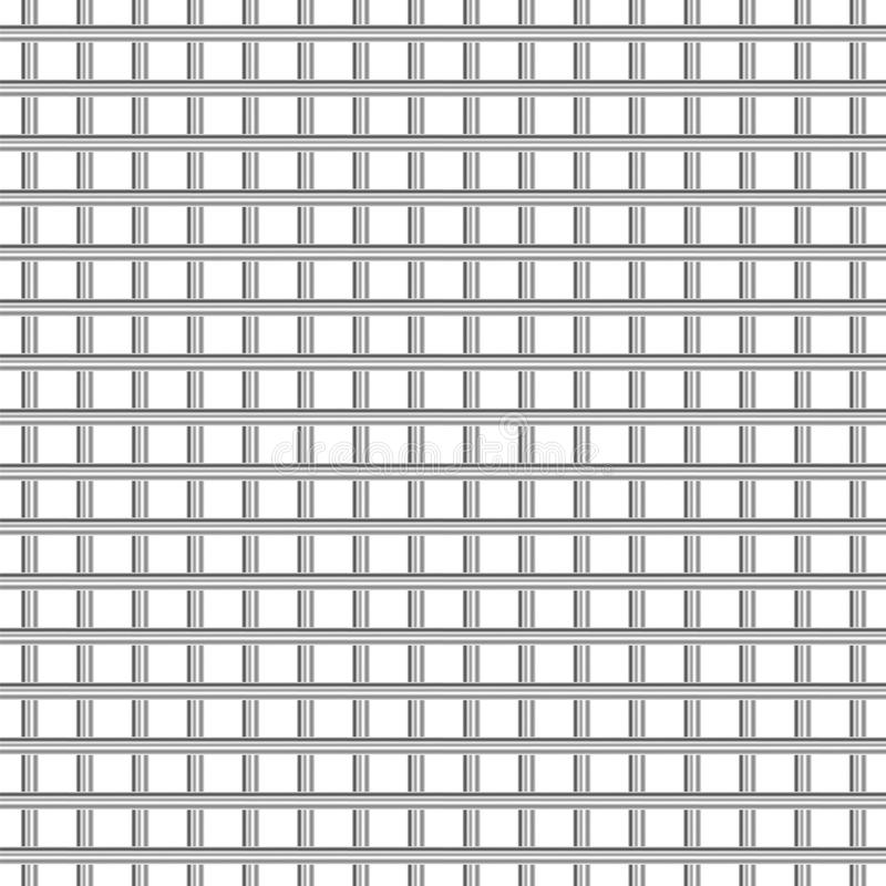Metal grid texture on white background vector illustration