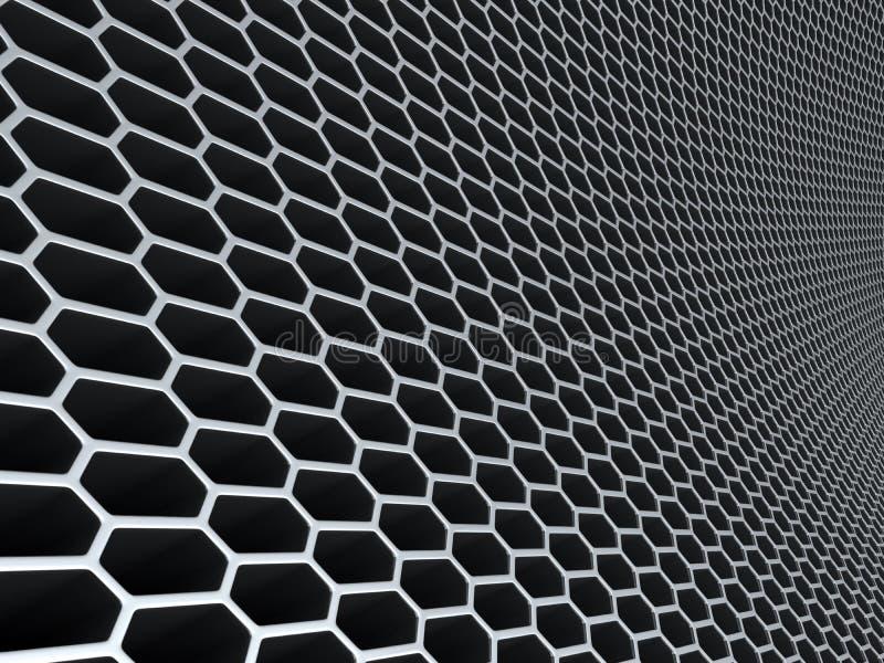 Metal Grid Wall metal grid wall stock illustration - image: 63859613