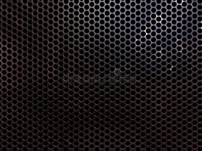 Metal grill. High resolution metal mesh grille, similar to that used as speaker cover. Uneven lighting version. Design component