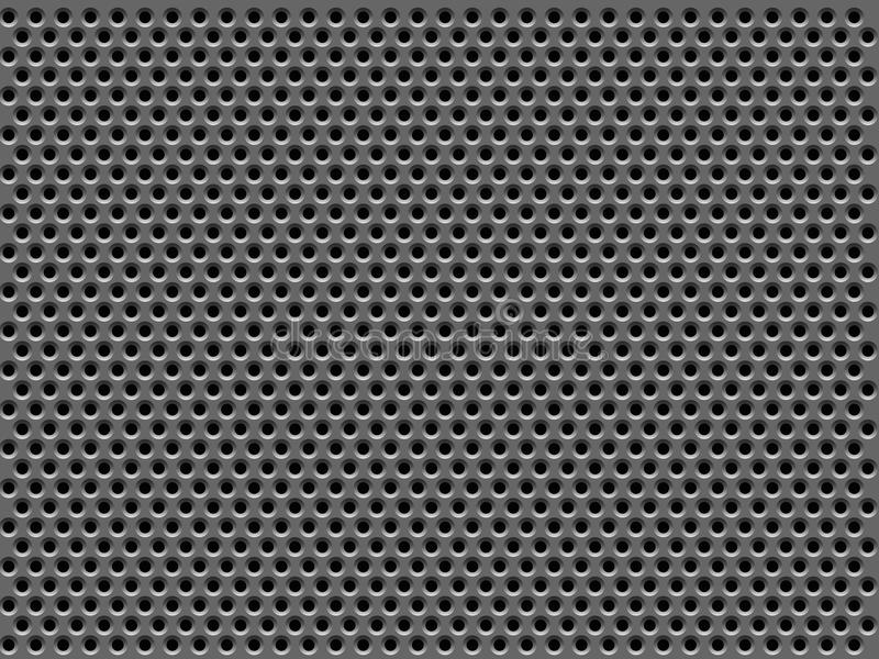 Metal grill texture royalty free illustration