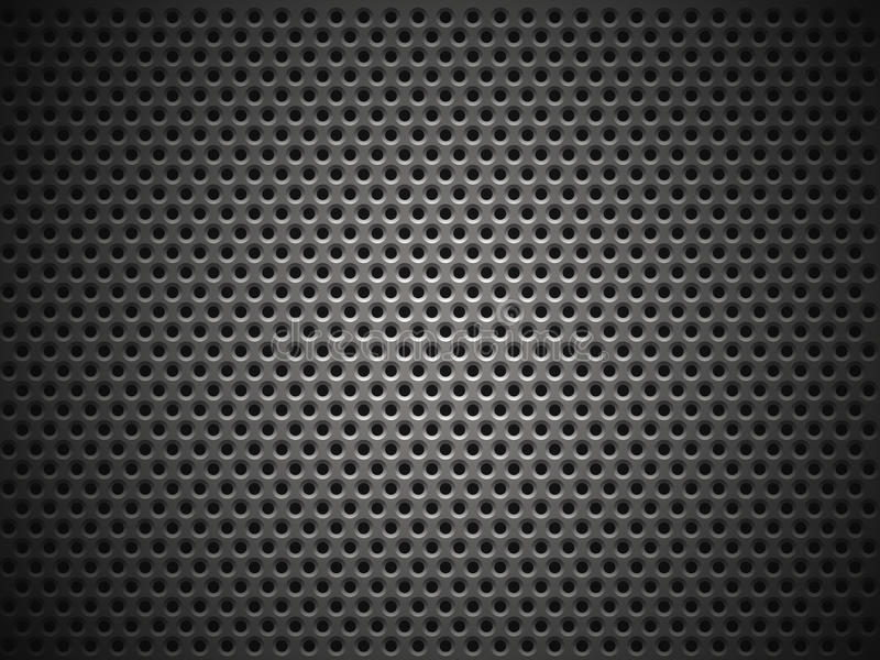 Metal grill texture. With lighting effect vector illustration