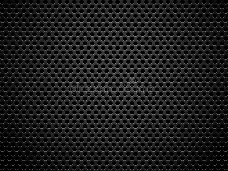 Metal grill texture. With lighting effect royalty free illustration