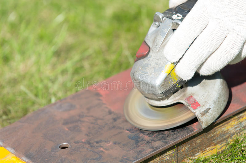Metal grinding royalty free stock photography