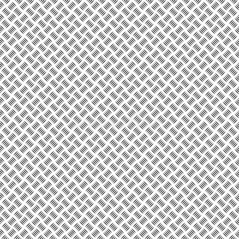 Metal grip texture generated. Seamless pattern. Stainless plate texture. White and gray background. Template for print, textile, w royalty free illustration