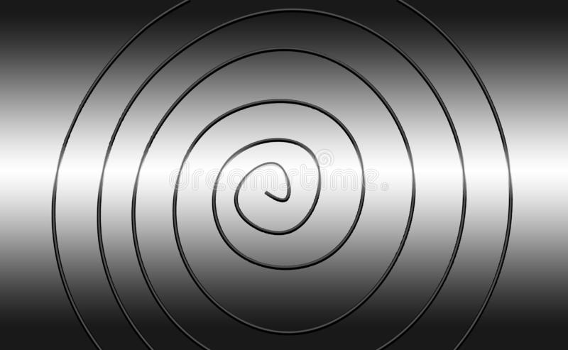 Metal gris de la imitación de la pendiente con un espiral del metal libre illustration