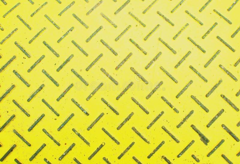 Metal grungy yellow background stock photos