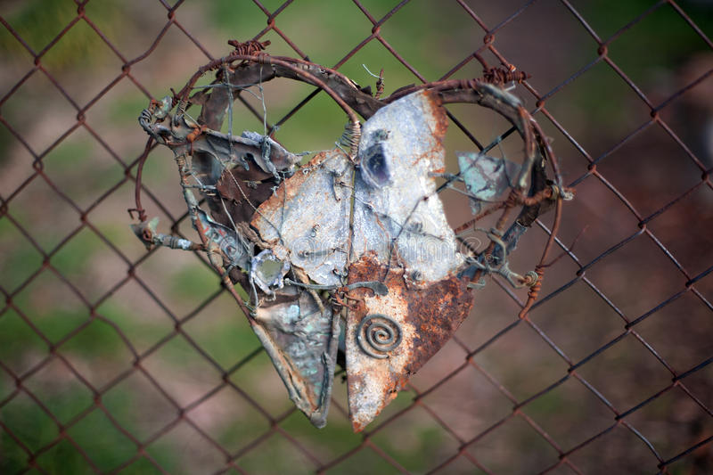 Download Metal Heart stock image. Image of abstract, fence, decoration - 18371735