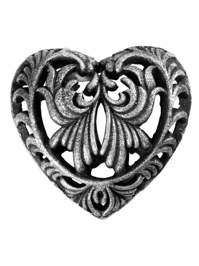 Download Metal Heart stock image. Image of swirls, heart, black - 20645669