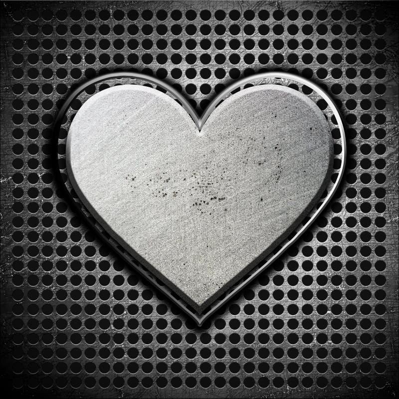 Download Metal heart stock illustration. Illustration of bolts - 23155523