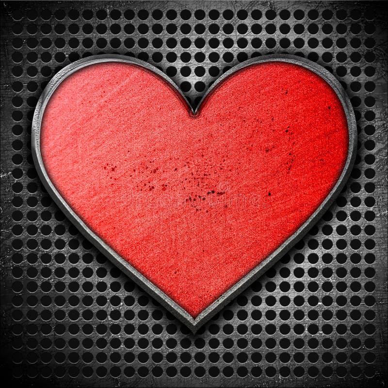 Download Metal heart stock illustration. Image of door, abstract - 23155560